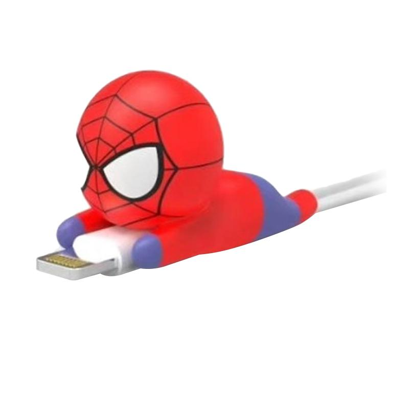 LOLLYPOP Spiderman Cable Bite Lightning Android Micro Charger for iPhone