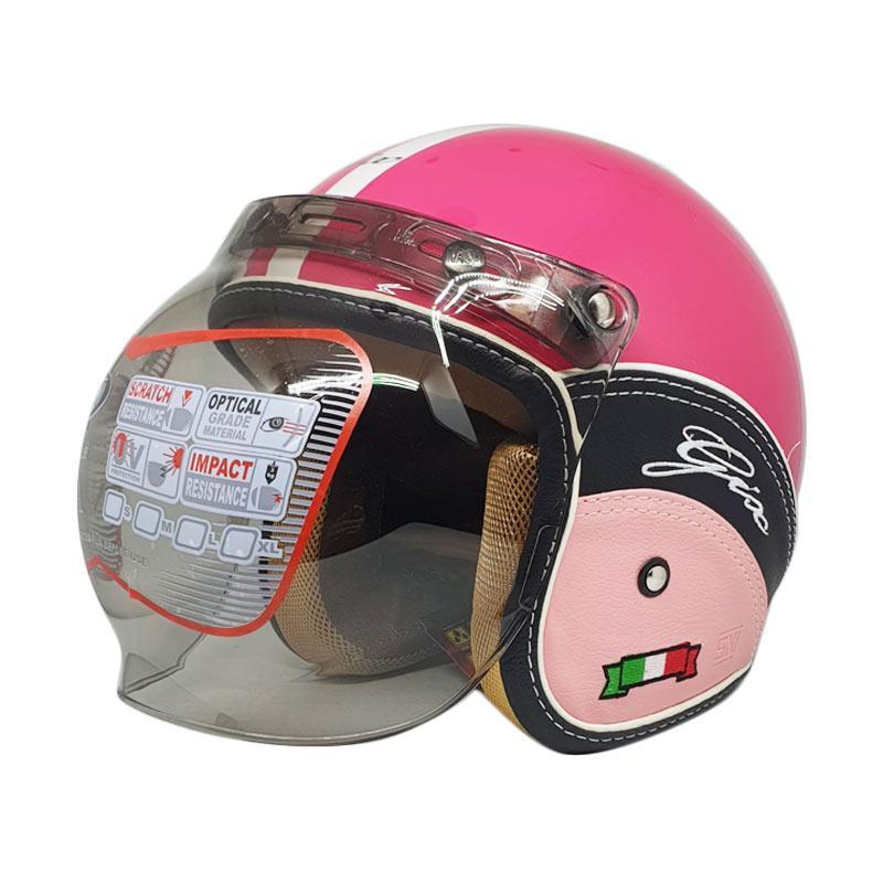 HELM GIX AZZURI HITAM/ HELM INK / HELM INK CENTRO/ AGEN GIX JABAR. 195.000 · GIX Nasa Semi Kulit Flower Retro Helm Half Face - Pink
