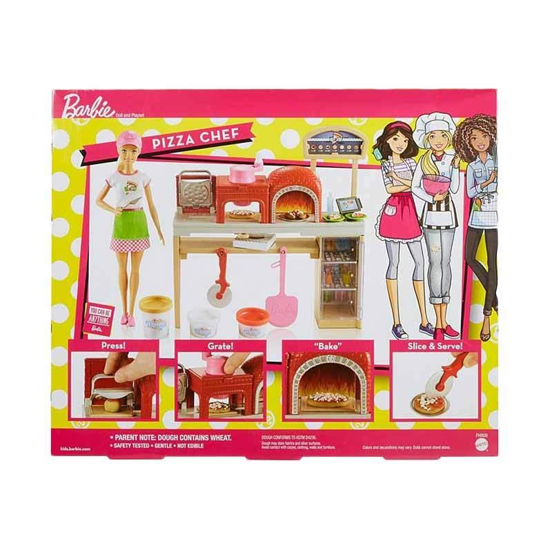 Jual Barbie Pizza Chef Doll Playset Fhr09 Online November 2020 Blibli Com