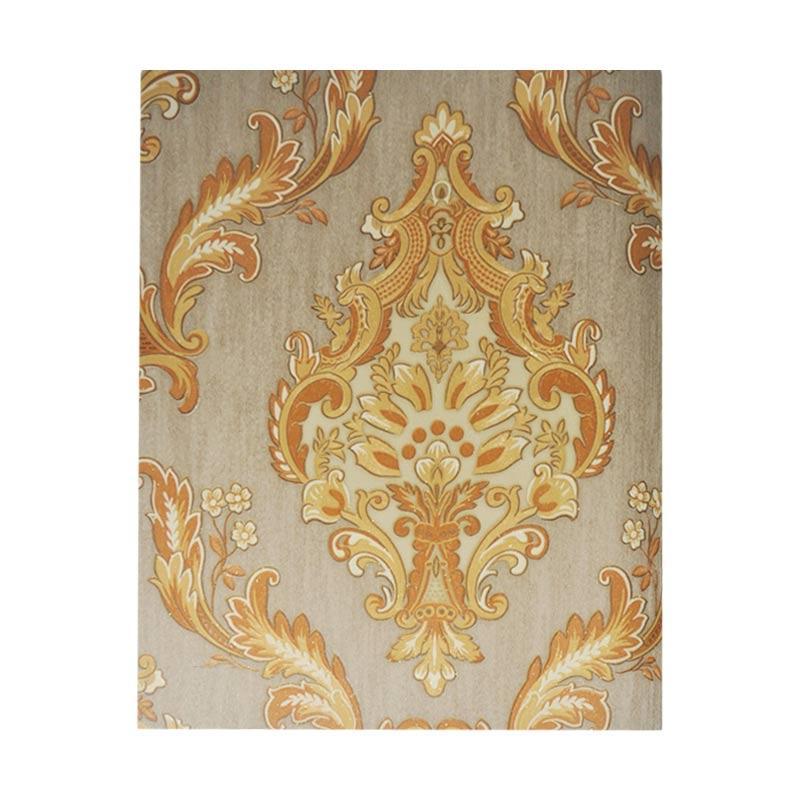 Samju Motif Bunga Shabby Klasik Bb Wallpaper Dinding 1500 G