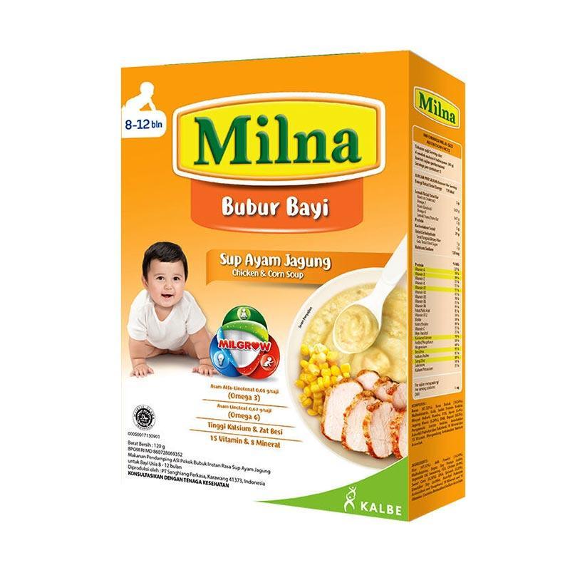 Jual Milna Bubur Bayi Sup Ayam Jagung 8 12 Bulan 120 G Online Oktober 2020 Blibli Com