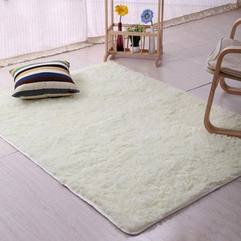 Jual Bluelans Plush Shaggy Soft Carpet Room Area Rug Bedroom Slip Resistant Door Floor Mat 60 X 120 Cm Online Oktober 2020 Blibli Com