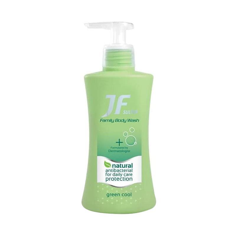 JF Derma Protect Green Cool Liquid Cleanser Sabun Cair 200 mL Bottle