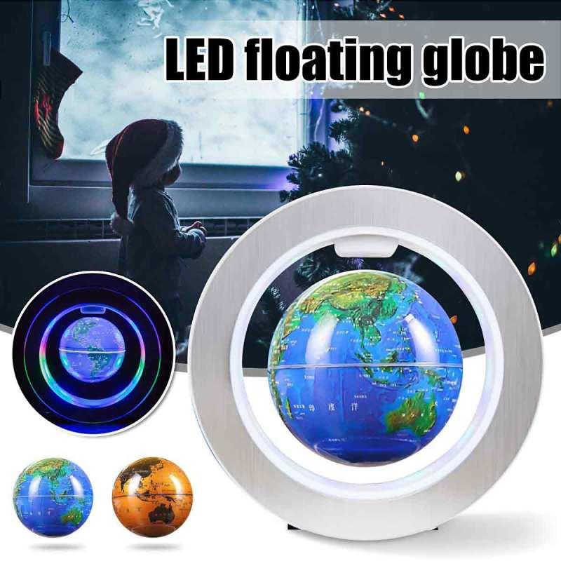 Jual Best Magnetic Levitation Floating Led Light Self Rotating Office Home Office Decor Xmas Gift Globe 4 Inch Online Oktober 2020 Blibli Com