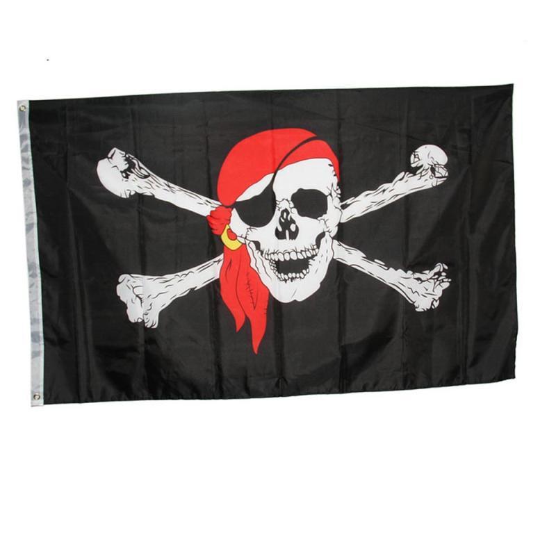 Jolly Roger Pirate Silent Sweep Light /& Sound Alarm Clock. hallow Halloween .