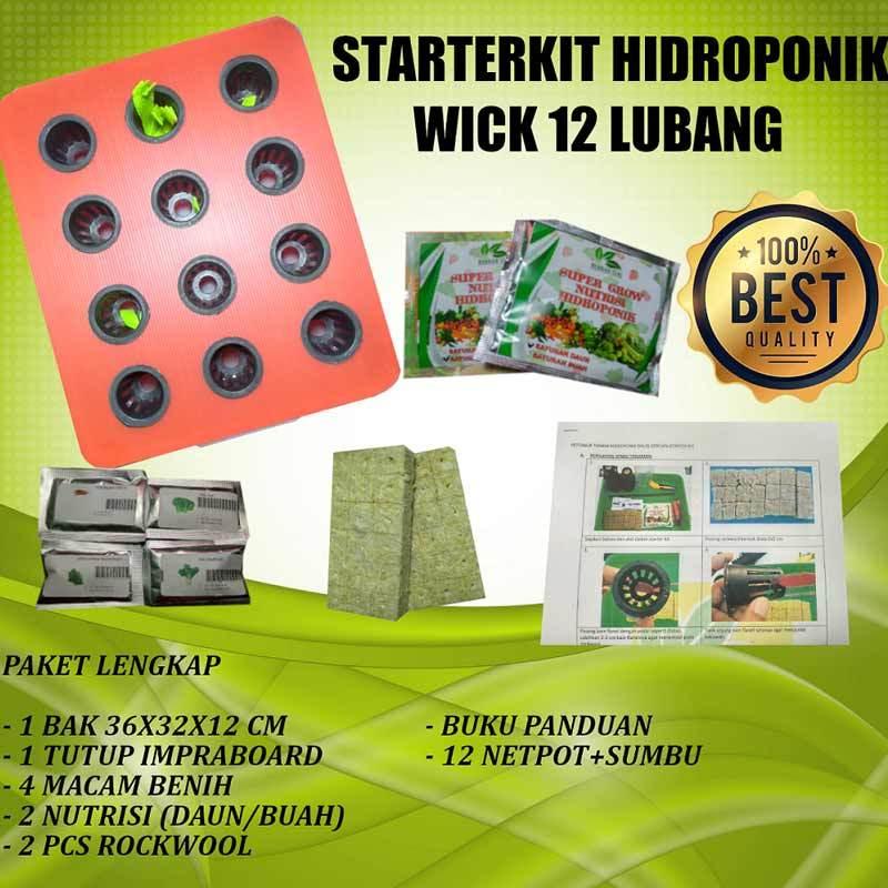 HIDROPONIK Sistem Wick 1 Set 8 Lubang Paket Starter Kit Hidroponik Pemula