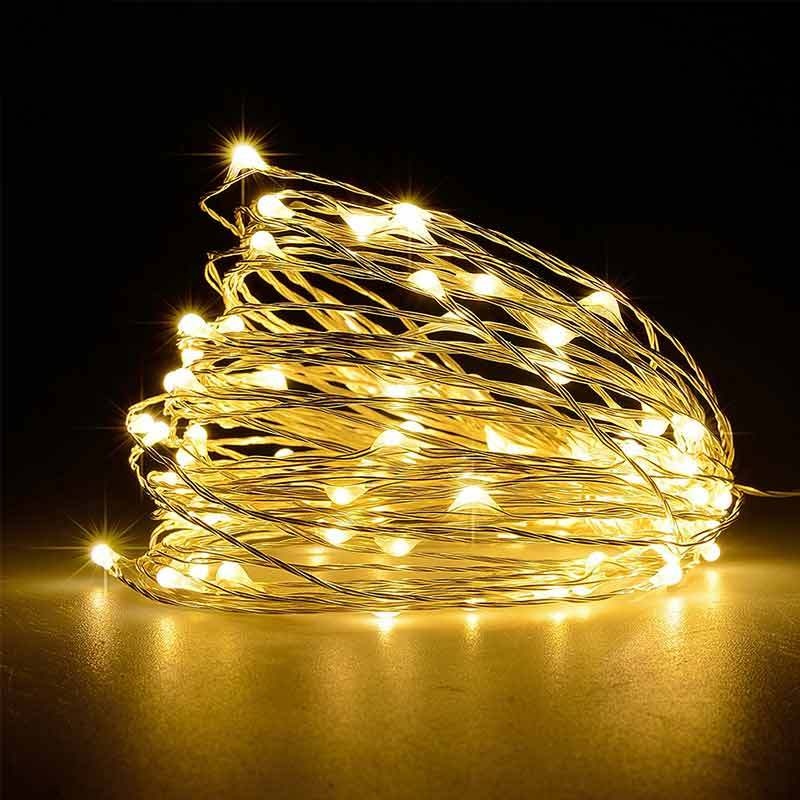 10M 100 LED DIY Outdoor Solar Powered Copper Wire Light String Fairy Party Decor