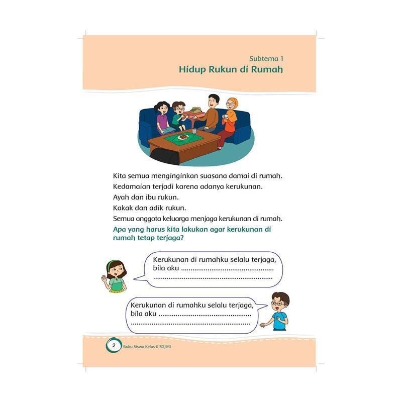 Jual Kemendikbud Republik Indonesia Tematik Sd Kelas 2 Tema 1 Hidup Rukun K13 Revisi 2017 Buku Edukasi Online Oktober 2020 Blibli Com