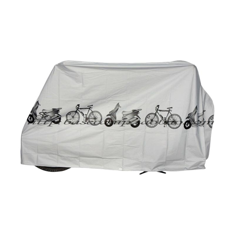 Waterproof  White Motorcycle Rain Dust Cover Protect Gear Bicycle Accessories