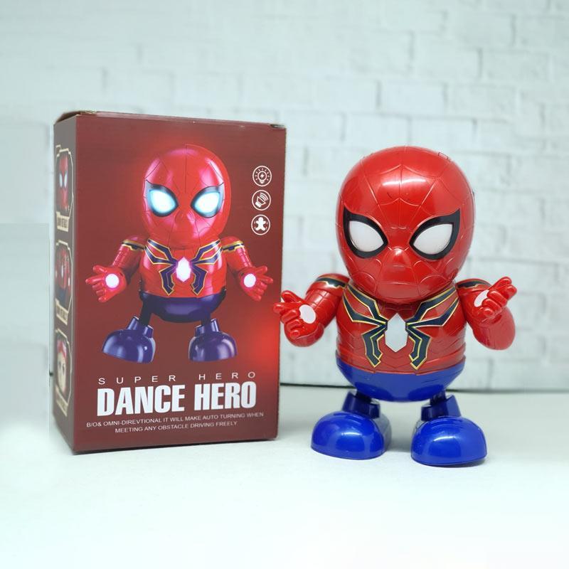 OEM Dance Hero Spiderman Robot Super Hero LED Light Action Figure