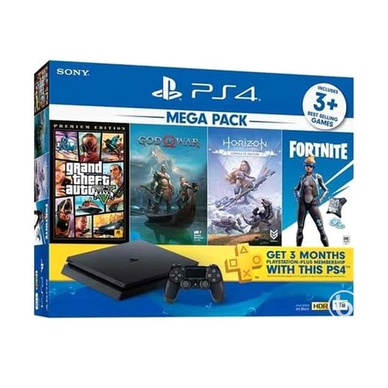 SONY PS4 Slim Mega Pack 2 Game COnsole 1 TB Set Bundle
