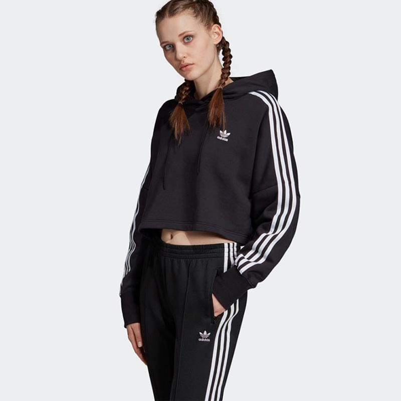adidas Cropped Originals Hoodie Atasan Olahraga Wanita ED7554