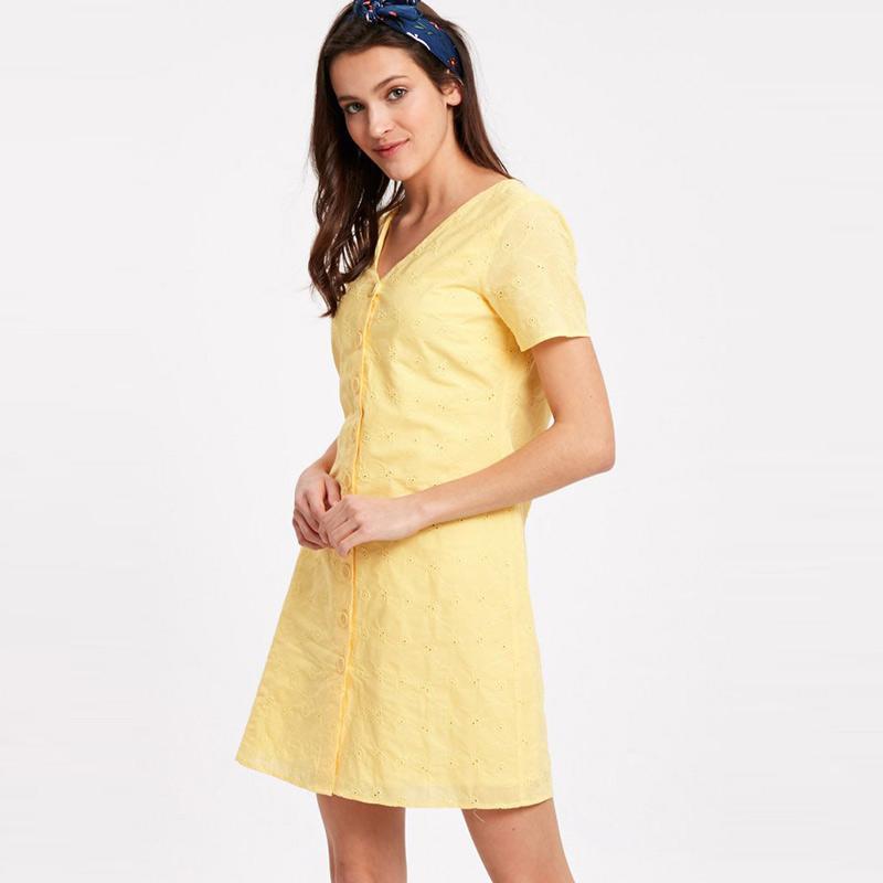LC Waikiki Scalloped Cotton Shirt Dress 9S8701Z8