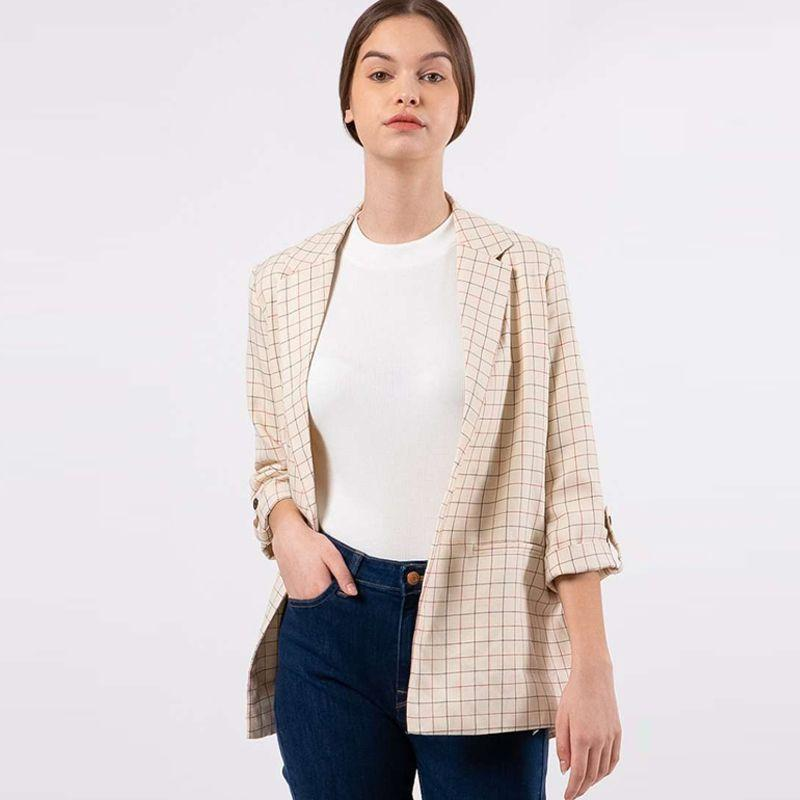 The Executive Printed Loose Blazer