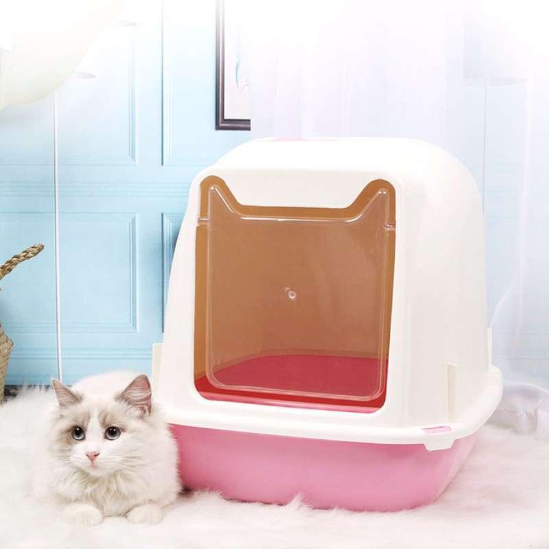 Cat Litter CTO530 Bak Pasir Kucing Box 7 Cat Toilet Large Tempat Pasir Besar Pink