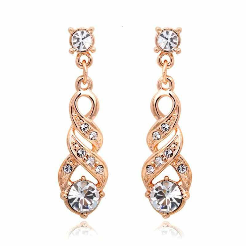 Anting Fashion Davina Sydney Earrings Lapis Emas 18k Rose Gold