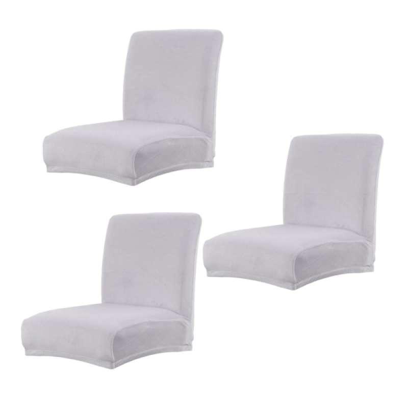 Jual Stretch Jacquard Damask Shorty Dining Room Chair Slipcover Light Grey Online Desember 2020 Blibli