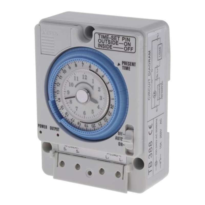 Details about  /AC220V 10A Plastic Mechanical Timer Switch Heavy Duty Mechanical Timer