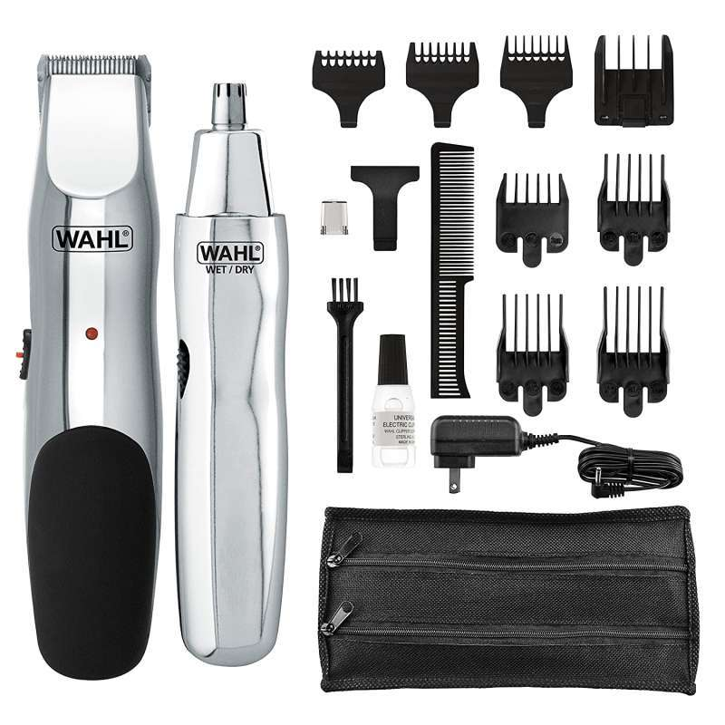WAHL Model 5623 Groomsman Cord/Cordless Beard, Mustache Hair & Nose Hair Trimmer for Detailing & Grooming