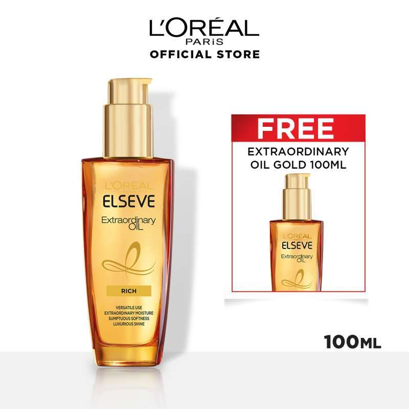 L Oreal Paris Hair Care Extraordinary Oil Window Pack 100 mL Buy One Get One Free