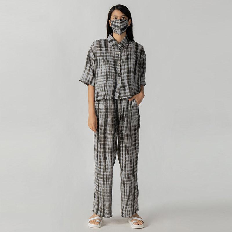 3Mongkis Hellen Chillwear Pakaian Set Wanita Grey