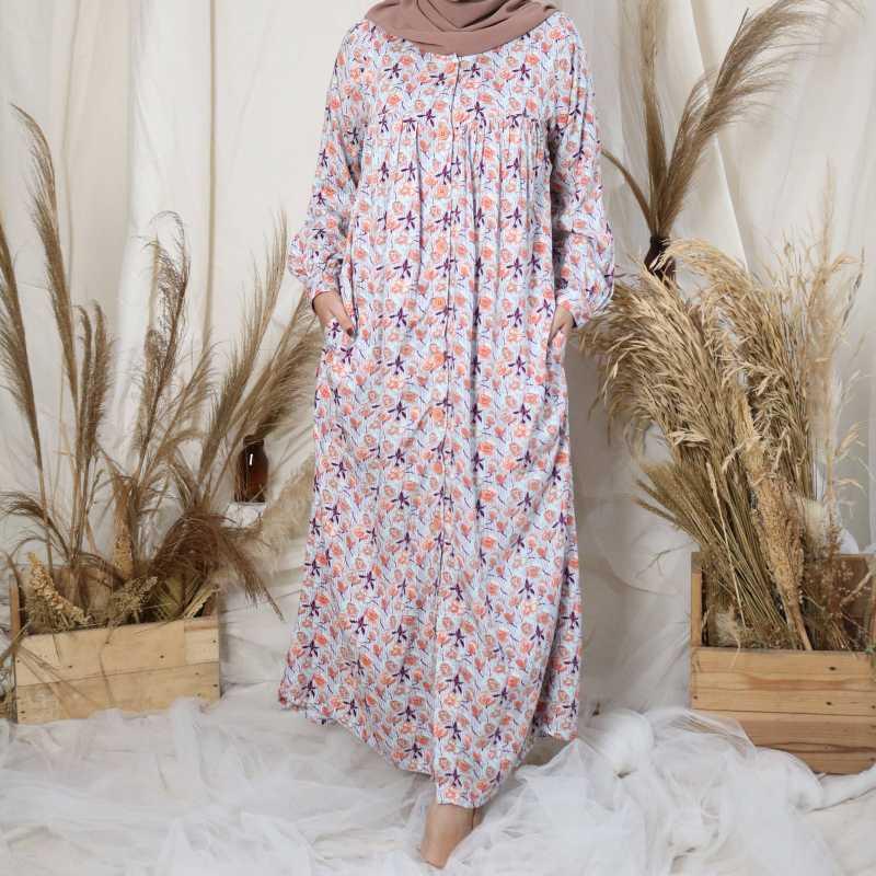 Jual Rilley Azrina Baju Gamis Home Dress Homedress Busui Syar I Rayon Busana Muslim Muslimah Wanita Online Januari 2021 Blibli