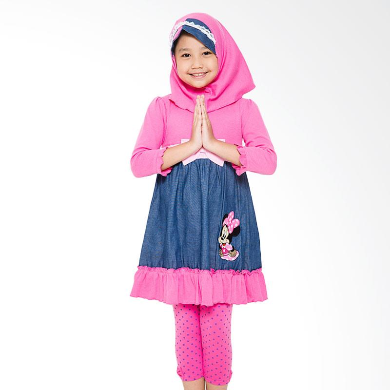 4 You Long Dress Baju Muslim Anak - Fuschia