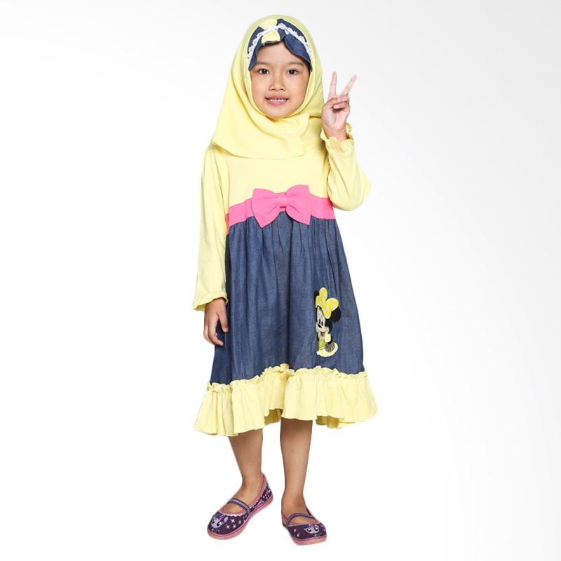 4 You Long Dress Baju Muslim Anak - Kuning