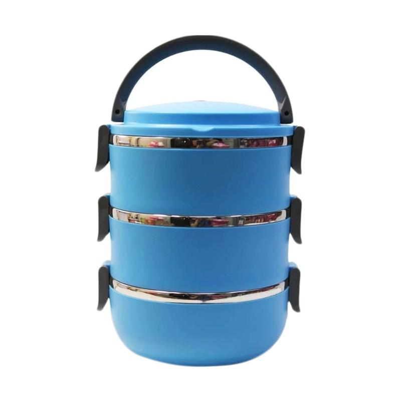 Aimons Rantang Lunch Box - Biru [3 Susun]
