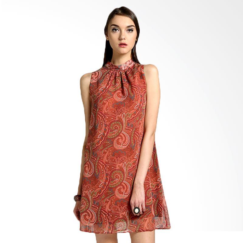 Bateeq Sleeveless Chiffon 14-070 Dress - Brown