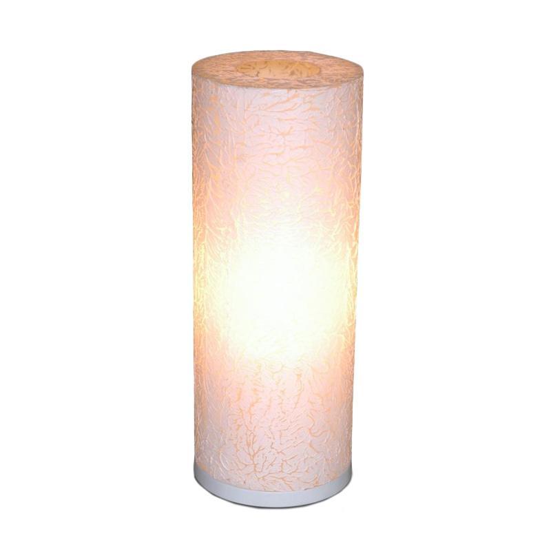 De Erniest New Citrus Bulat Lampu Meja - Putih