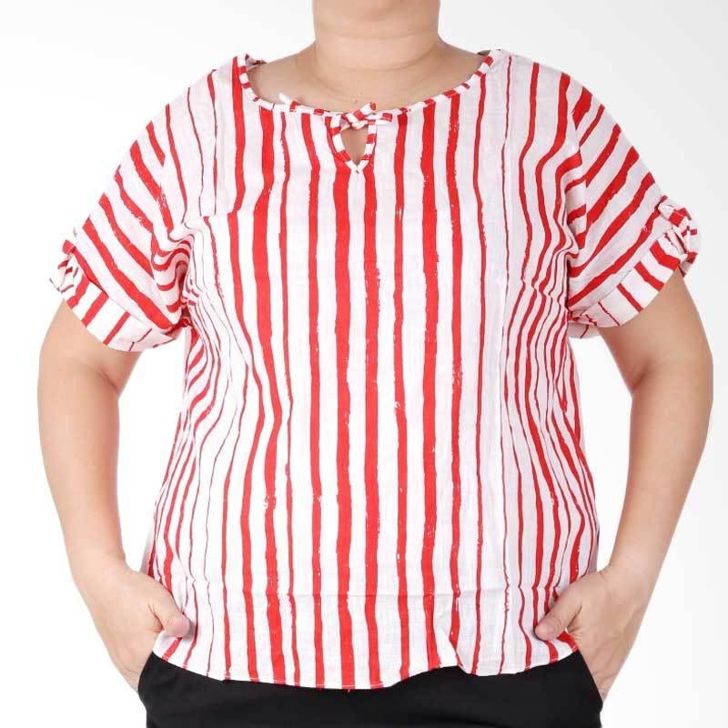 Ronaco Bles RB01 Big Size Blouse - Merah