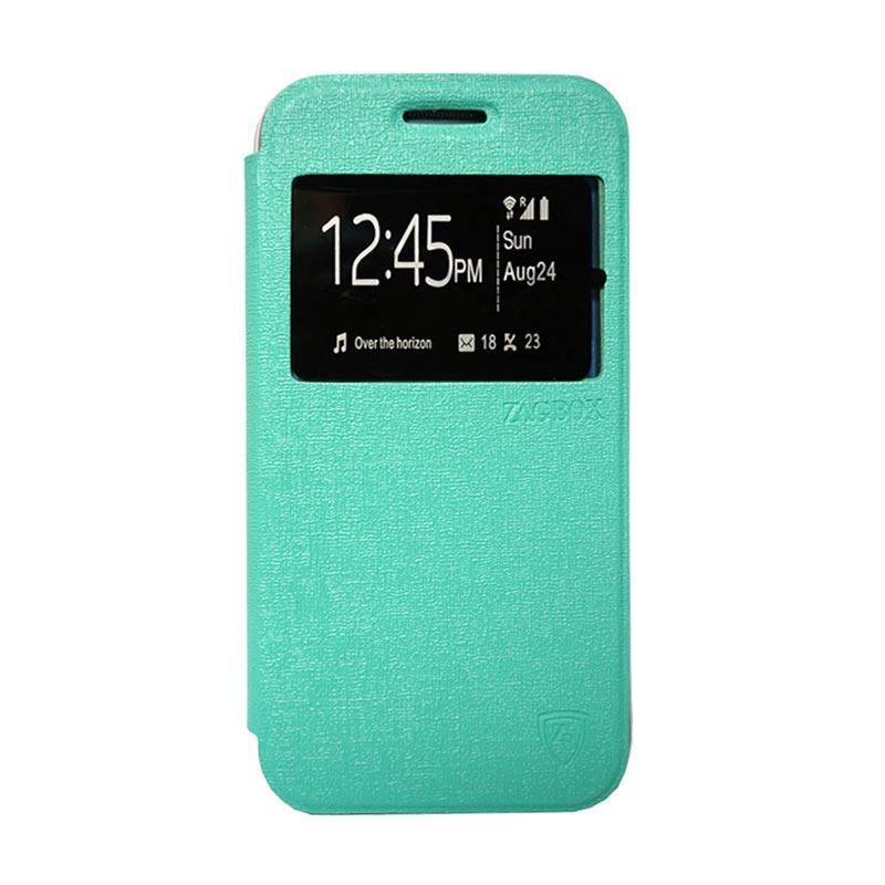 ZAGBOX Flip Cover Casing for VIVO Y35 - Hijau Tosca