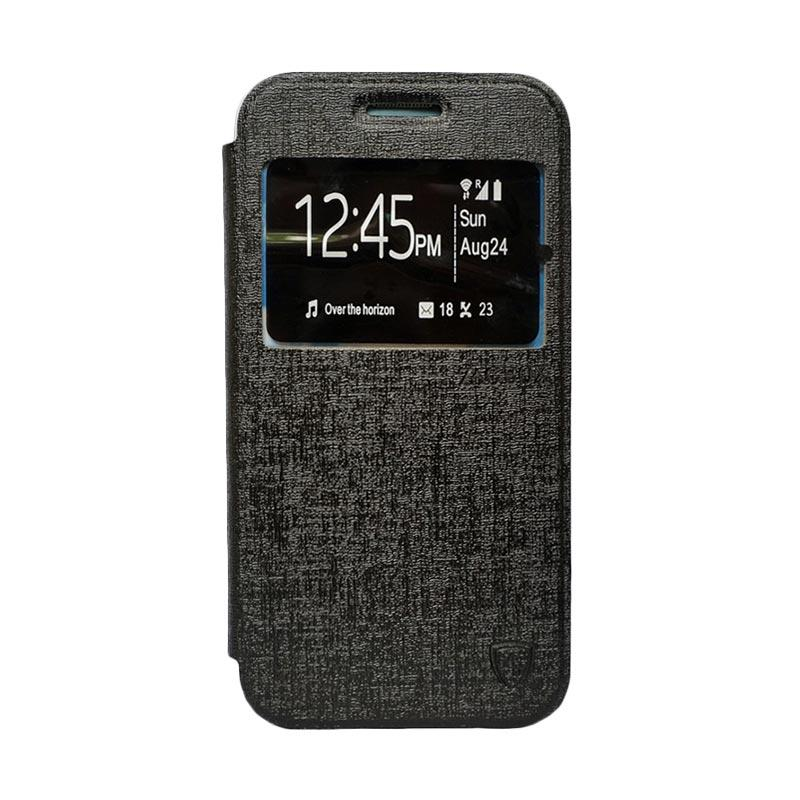 Zagbox Flip Cover Casing for Asus Zenfone 4 - Hitam