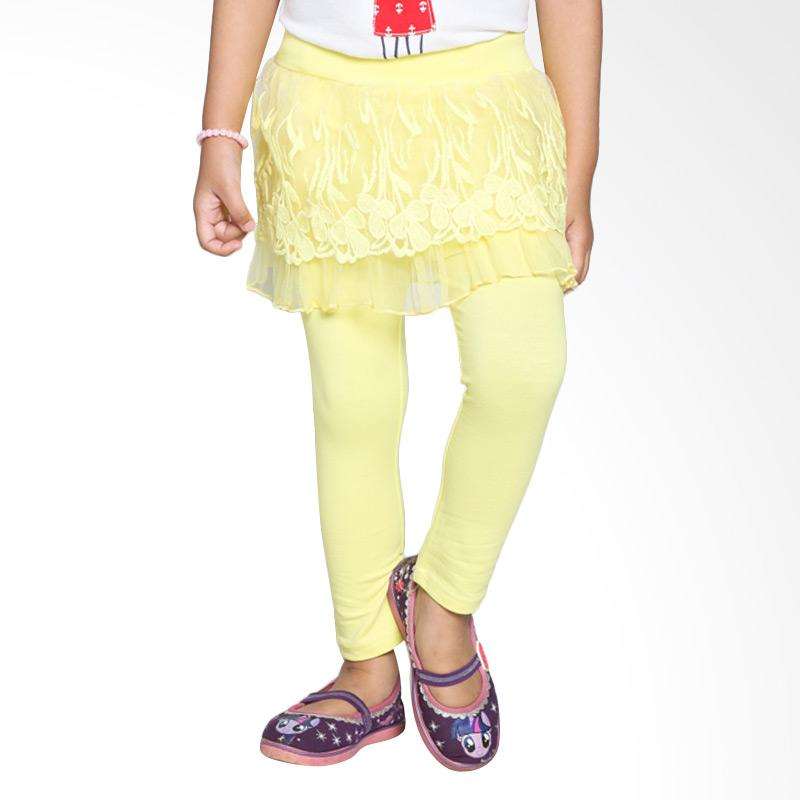 4 You Floral Long Pants Celana Anak - Kuning