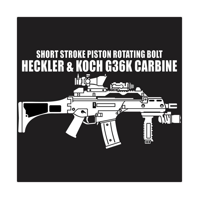 Kyle Heckler & Koch HK G36 K Carbine Cutting Sticker
