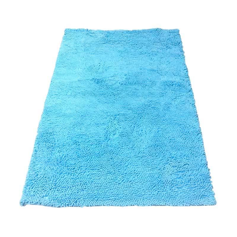 Tren-D-rugs -  Karpet Cendol Doff - Biru Muda [150 cm x 200 cm]
