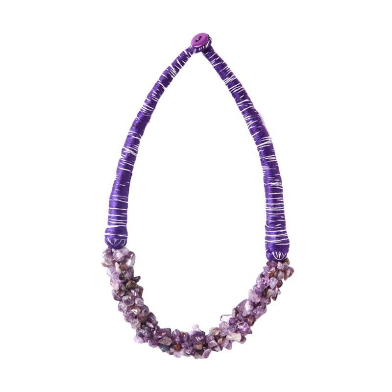 Momy Ribbon Pebble Kalung - Purple