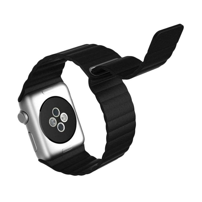 LOLLYPOP Strap Leather Loop Band for Apple Watch 42mm - Black