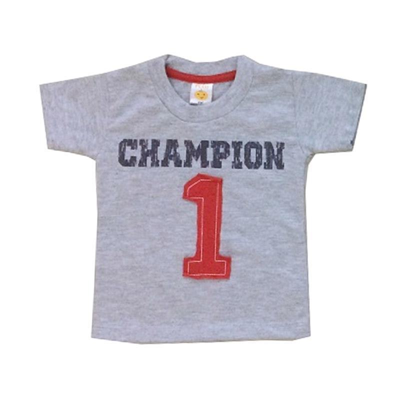PLEU Ts Champion Atasan Anak Laki Laki - Grey
