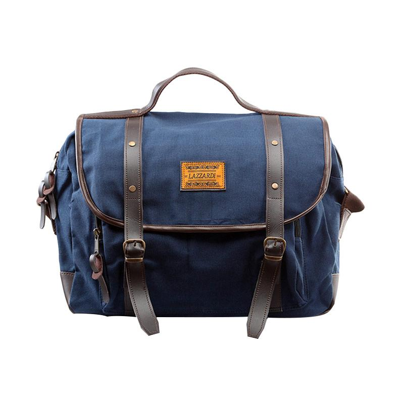 Lazzardi Dimensional Navy Sling Bag