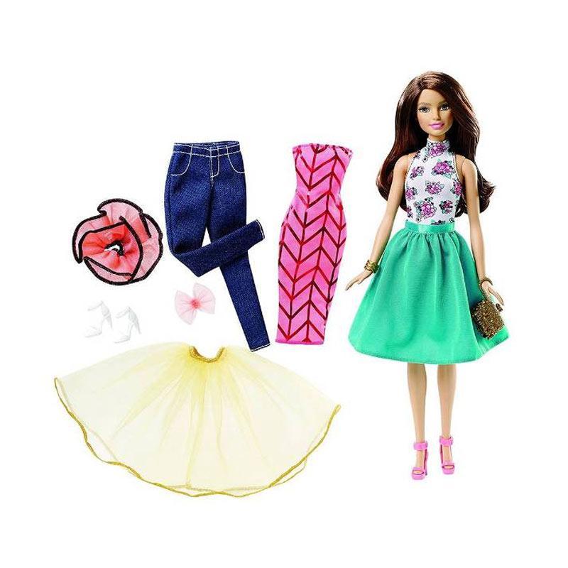 harga Barbie Fashion Mix n Match Brunette Doll Blibli.com