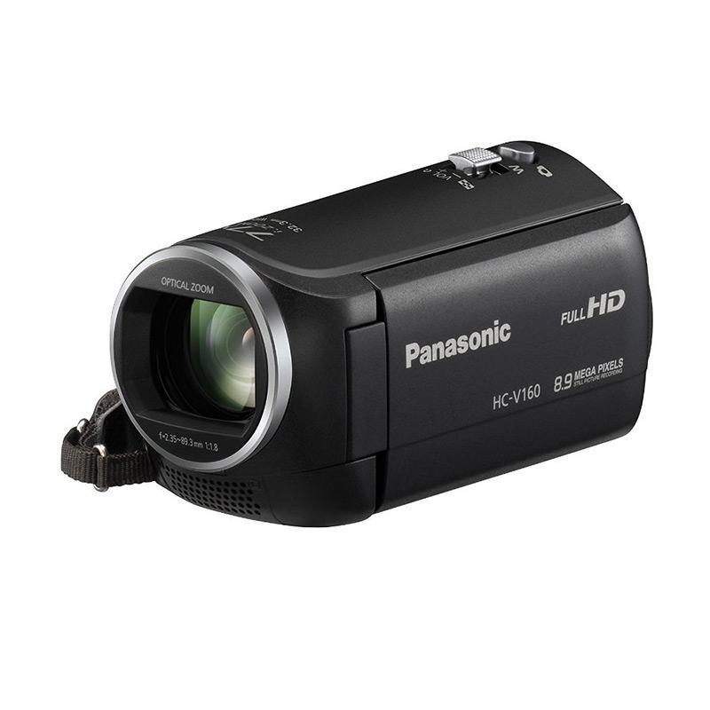 Panasonic HC-V160 Full HD Camcorder - Hitam Free Memory Sony 8gb