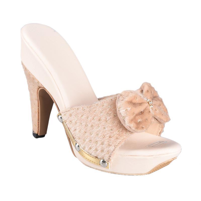 Flower SN-127B High Heels Sepatu Wanita - Cream