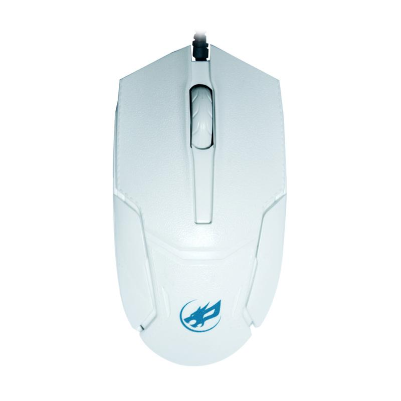 Warwolf M-521 Glacial Wired Mouse - White
