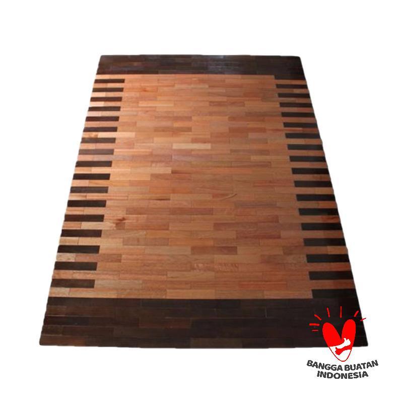 Abang Borneo Motif Wood Karpet