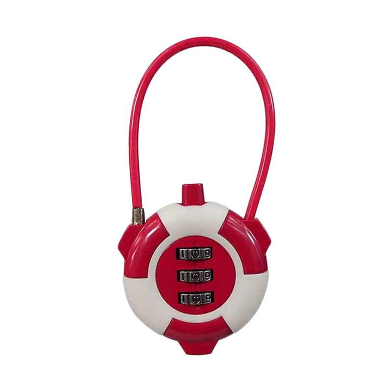 Traveltime 548 Combination Lock - Red