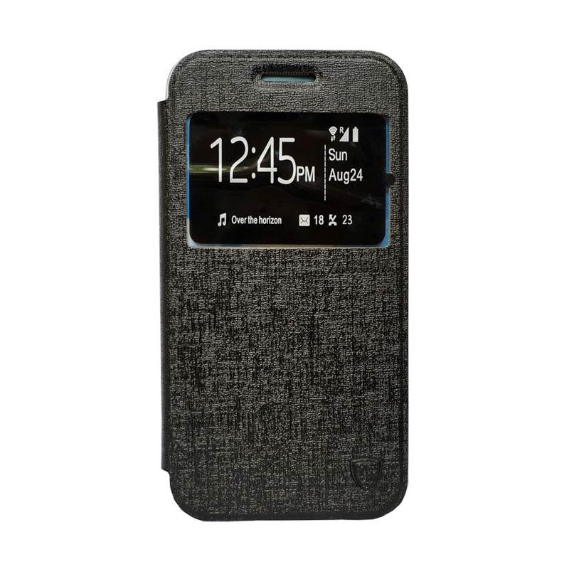 Zagbox Flip Cover Casing for Asus Zenfone 2 5 Inch - Hitam