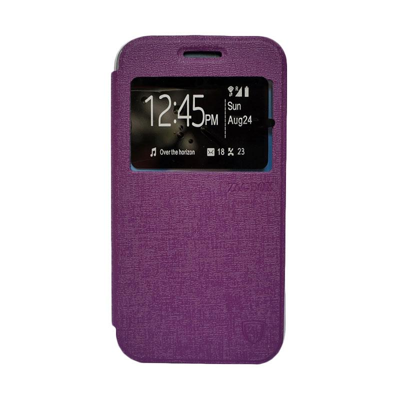 Zagbox Flip Cover Casing for Asus Zenfone 5 - Ungu