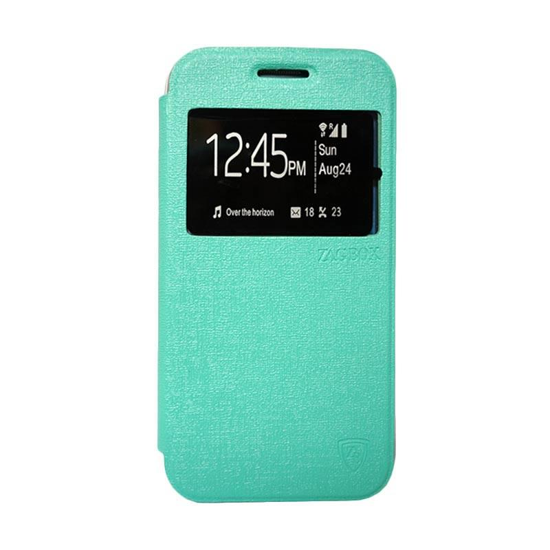 Zagbox Flip Cover Casing for Lenovo A1000 - Hijau Tosca